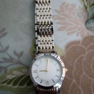 Silver/gold watch
